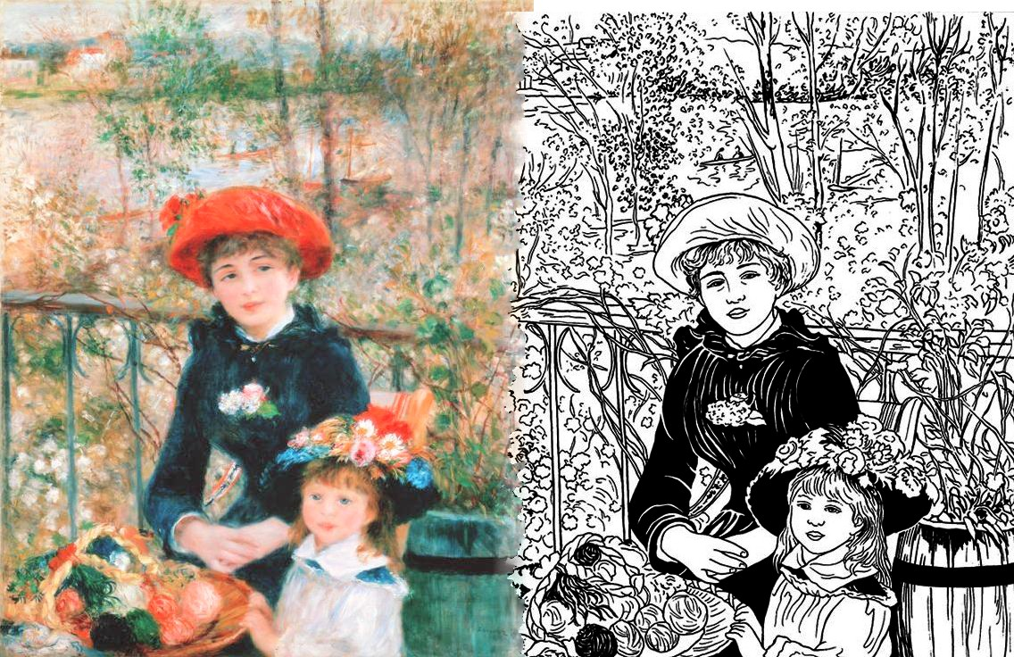 Renoir on the terrace underpainting parodies variations for The terrace book
