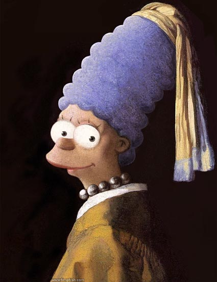 [Jeu] La galerie des Contrefaçons! Vermeer-marge-simpson-with-a-pearl-earring