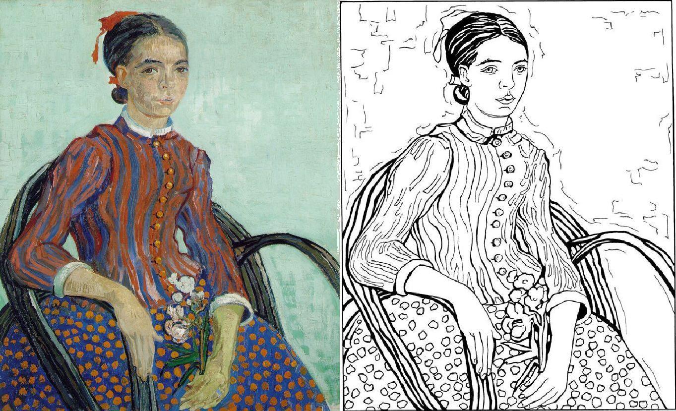 van Gogh, La Mousmé coloring book | Parodies & Variations