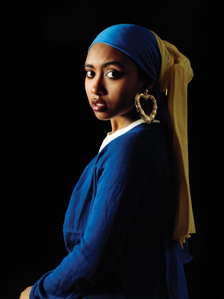 Erizku, Awol_Girl with a Bamboo Earring