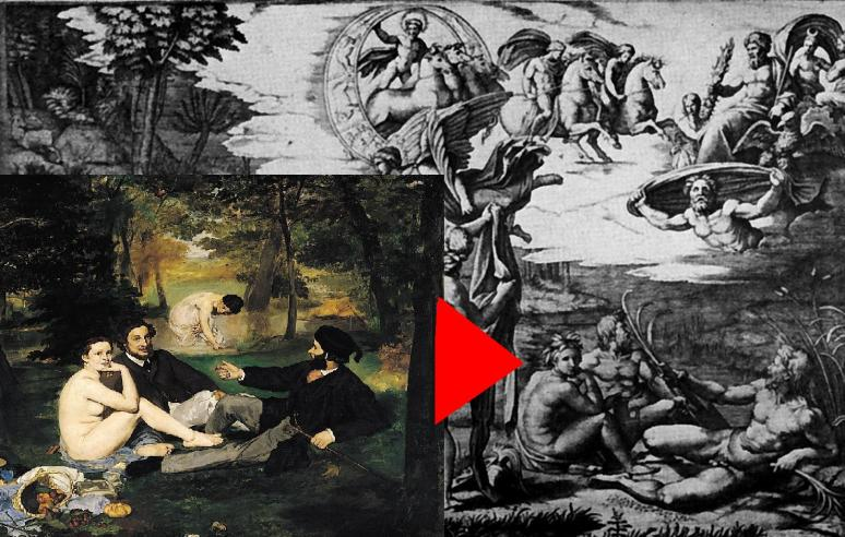 Manet after Marcantonio after Raphael Judgment of Paris