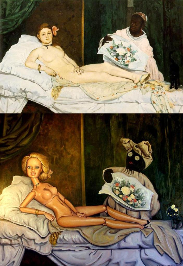 Manet, Olympia 1863 & Jane Talton 2011