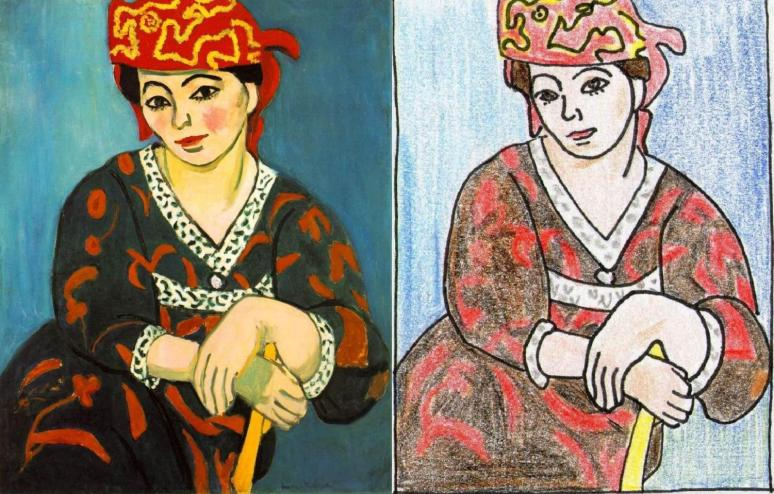 Matisse, The Red Madras Headress coloring book
