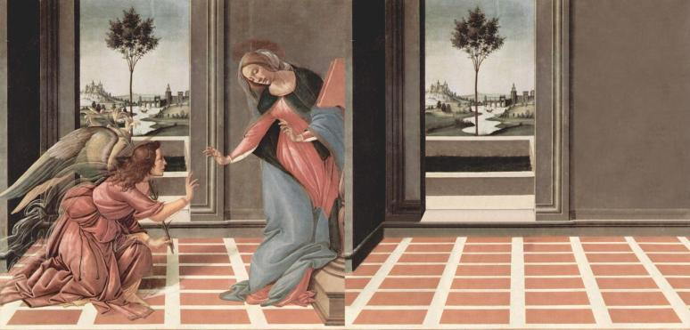 Bence Hajdu's abandoned version of Botticelli's Annunciation