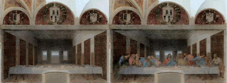 Bence Hajdu's abandoned version of DaVinci's Last Supper