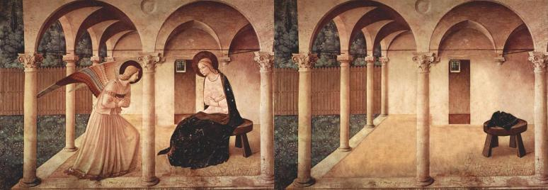 Bence Hajdu's abandoned version of Fra Angelico's The Annunciation