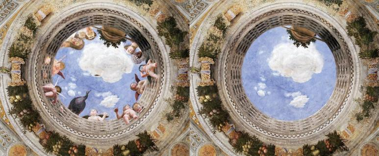 Bence Hajdu's abandoned version of Mantegna's Oculus in the camera degli sposi