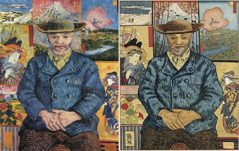 Père Tanguy by Okuyama Gihachiro 1957 after van Gogh 1887