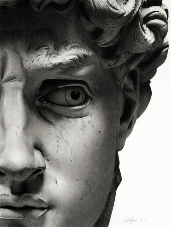 Huber, Linder_Pencil Drawing of David's Face  2011