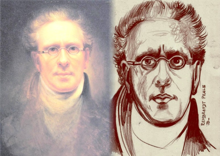 "Rembrandt  Peale ""Self Portrait""  1828"