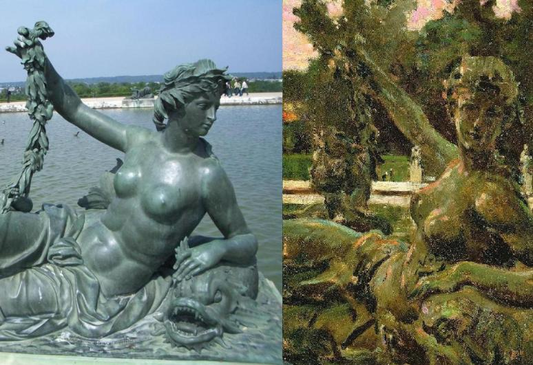 Versailles, Nymph & Cupid, Pierre Legros & James Carroll Beckwith 1913