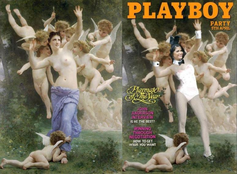 Bourguereau, William-Adolphe_Le Guêpier (1893) Playboy