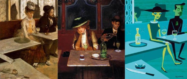 Absinthe Drinkers, Degas, Béraud, Agle