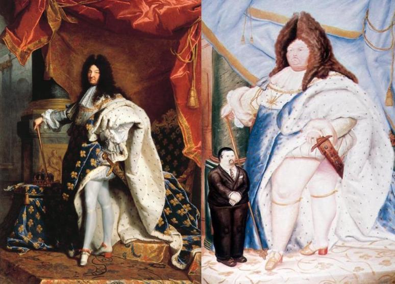Rigaud, Portrait of Louis XIV, 1713 & Botero