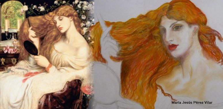 Rossetti, Lady Lilith repaint 1872-73 w face of Alexa Wilding version 2