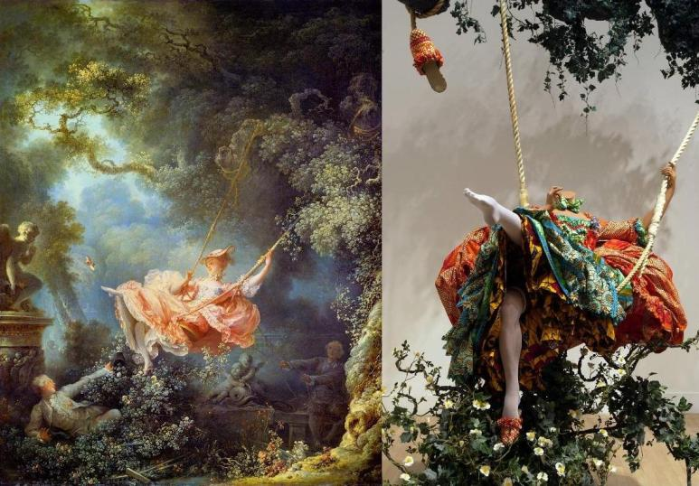 Swing after Guillotine, Fragonard & Shonibare