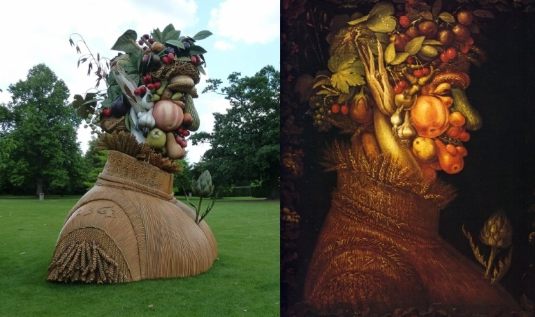 Philip Hass does Giuseppe Arcimboldo in Dulwich gardens