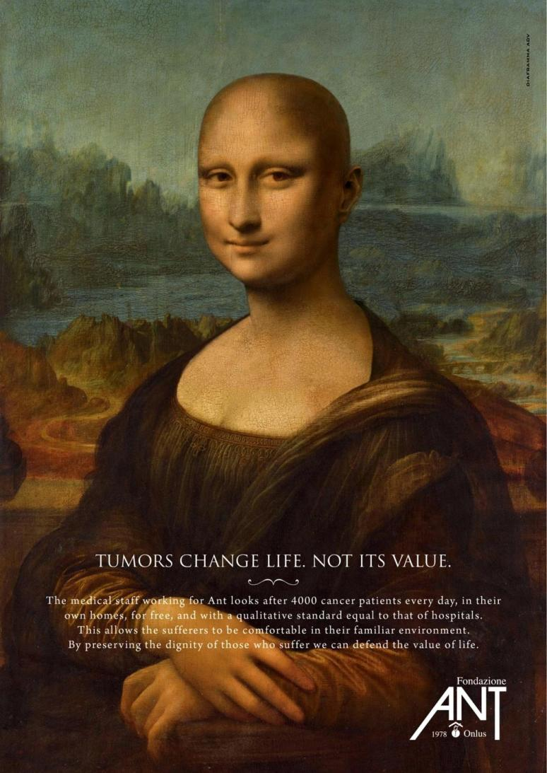 Italian ad campaign promoting cancer awareness