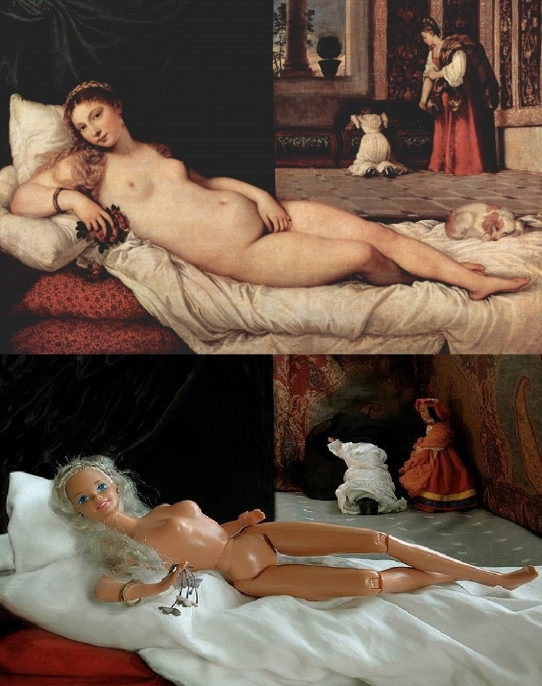 Venus of Urbino after Titian (1538) by Kristyna Milde