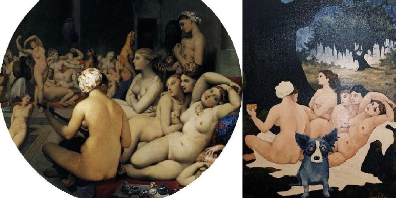 Ingres' Le Bain turc 1862 & Rodrigue's Right Place Wrong Time 1992