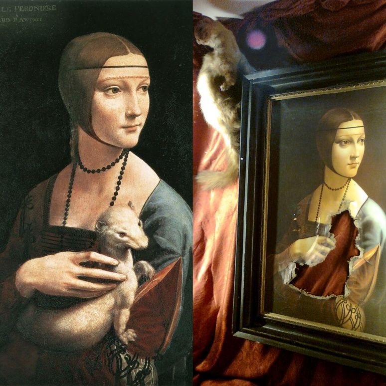 Da vinci, Lady with an escaped Ermine