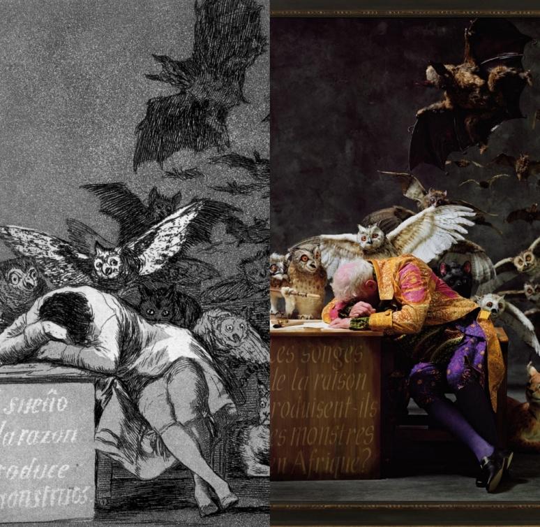 Goya & Shonibare, The Sleep of Reason Produces Monsters, 1799 & 2008
