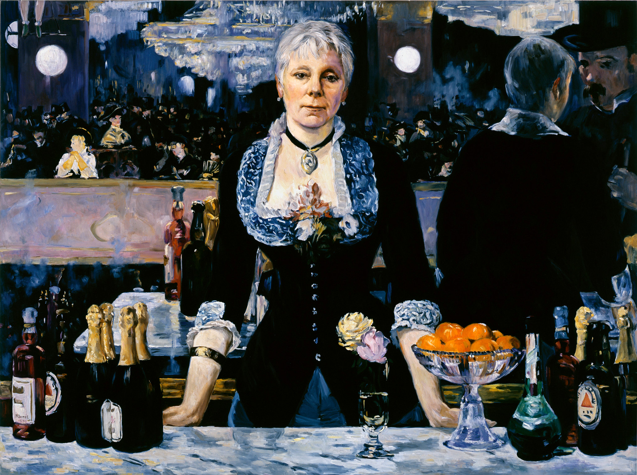 manet at the bar A bar at the folies-bergere (1881-82) artwork description & analysis: this melancholic café scene is undoubtedly manet's last masterpiece the folies-bergere was a popular café concert for a fashionable and diverse crowd.