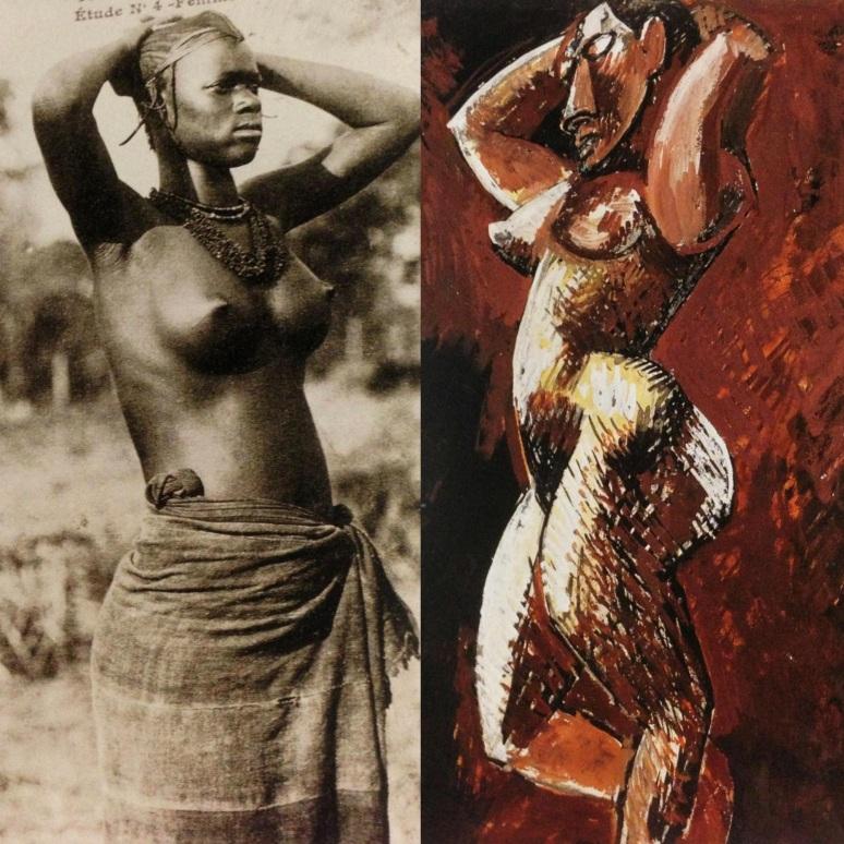 Picasso, Nudo dalle braccia alzate 1908_Fotor_Collage