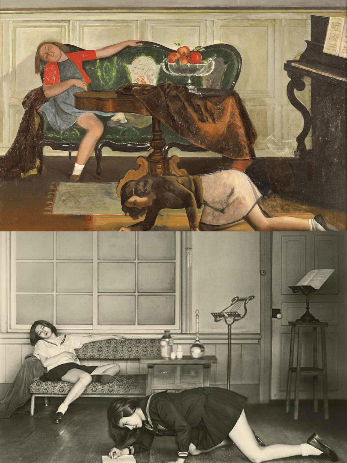 https://parodiesandvariations.files.wordpress.com/2014/08/balthus-the-salon_collage.jpg