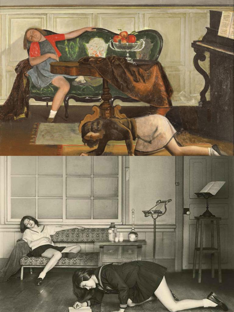 Balthus, The Salon_Collage