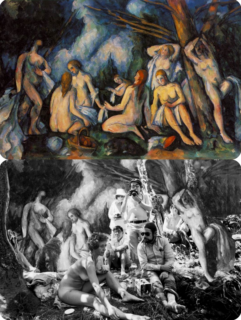 Robert Heinecken, lawn party nudes & Cézanne, Les Grandes baigneuses collage (769x1024)