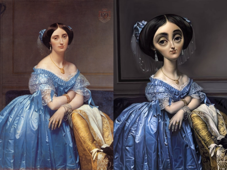 Ingres & Luis Gaspardo, Princesse de Broglie 1853_Collage