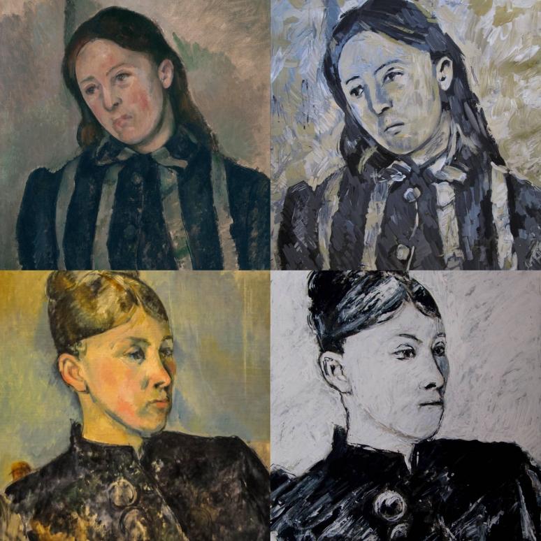 Cézanne,_Madame_Cézanne_Martin Beek_Fotor_Collage