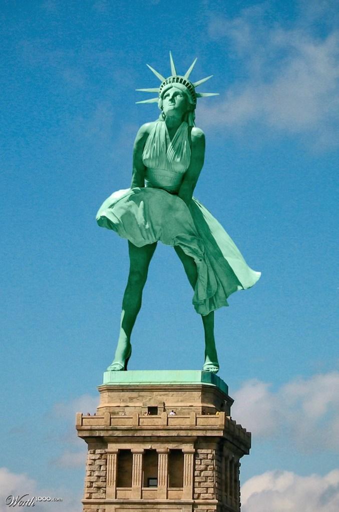 Statue of Liberty ala Marilyn Monroe