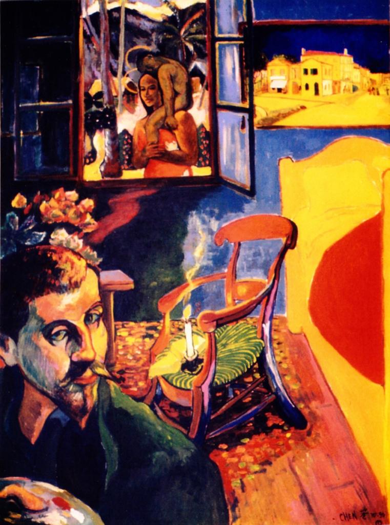 Chen, Tsing Fang_Gauguin at van Goghs Studio