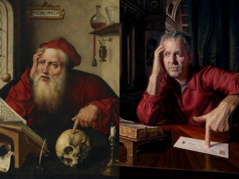 Warren Crossett, Self-portrait after St Jerome Flanders_Fotor_Collage