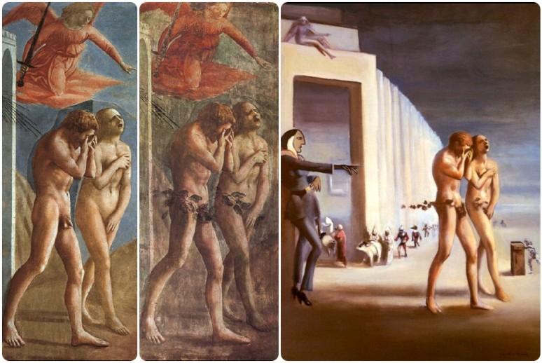 Masaccio, Expulsion 1427 & DuBois, Another Expulsion 1950