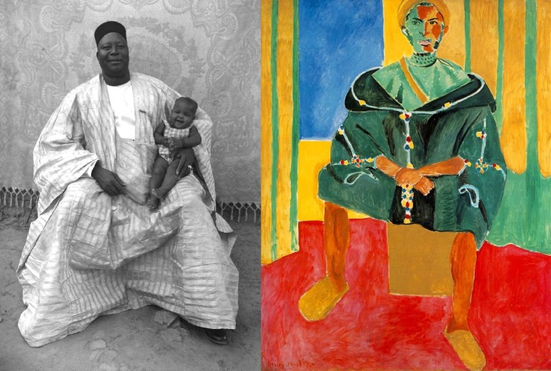 Matisse, Seated Riffian 1912 & Seydou Keita photo 1949-51