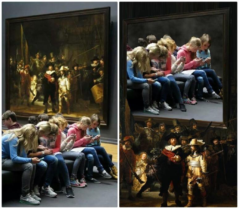 Rijksmuseum Rembrandt collage